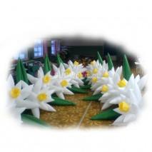 Kwiaty dmuchane pneumatycznie